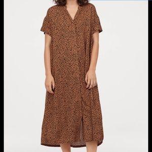H&M animal print Kaftan Dress